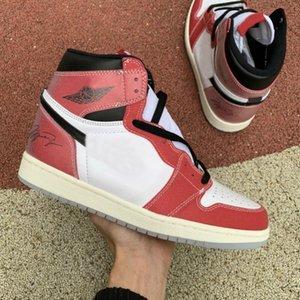 Kupa odası x 1 Yüksek 1 S Jumpman Yüksek OG SP Marcus Chicago Basketbol Ayakkabı Erkek Spor Eğitmenler Için Bayan Sneakers