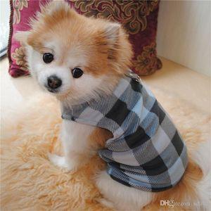 Buckle Big Dog Clothes Pets Keep Warm Fleece Winter Eight Models Lattice Style Sweatshirt Traction Factory Direct Sales 8 8el7C1