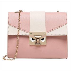 Hot Sale Lady Shoulders Small handbag Letter Purse Mobile Phone Bag Messenger Bag Candy Color Women Shoulder Bags Party Lock Purse