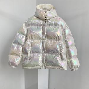 Femmes Colorful Down Down Jacket Brillant Down Jacket Cadeau de Noël Top Qualité Hiver Coat Femmes Casual Outdoor Outfear Outwear épaissir allongé