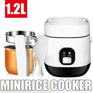 1.2L 350W 220V Mini Electric Rice Cooker 2 Layers Heating Steamer Multifunction Meal Cooking Soup Pot 1-2 People Lunch Box1