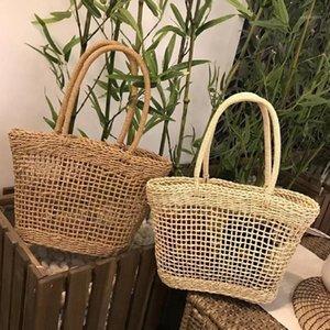 Handmade Women Straw Bag Woven Basket Beach Tote Summer Shoulder Holiday Shopping Bags1