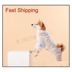 Ropa protectora para perros de mascotas ventilador para caminar al aire libre Parada de bacterias Perro Perro Ropa Polvo Aparato Disfraz Pet Pet Pro Qylweg Bde_Luck