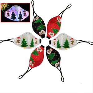 Filtre LED Luminous ile Noel Parlayan Maskeler LED Mutlu Chirtmas Maske Festivali Parti Masquerade Rave Maske Tasarımcı Maskeler HWB3078 Maske