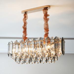 Modern crystal light chandelier for dining room design kitchen island cristal lamp  home decoration led lighting fixture