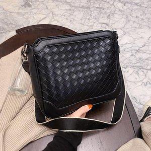 Leder Crossbody Winter New Olsitti Wide Designer Schulter Mode Frauen Weave Bags Muster Schultergurt 2020 diigt