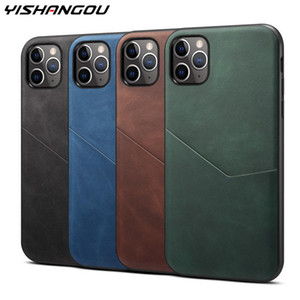 YISHANGOU Leather Texture Wallet Case for iPhone 11 Pro Max with Card Pocket Phone Back Cover for iPhone X XR 11pro Xs Max