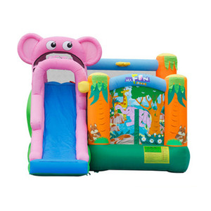 Garden Supplie Elephant Jumping Castle Inflatable Bounce House Small Slide Commercial Bouncy Castles Jumper Jump for Kids BackYard Family Personal Use
