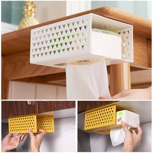 Home Storage Wall-Mounted Multifunctional Tissue Box Home Storage Box Bathroom Accessories Organizer Tissue Holder