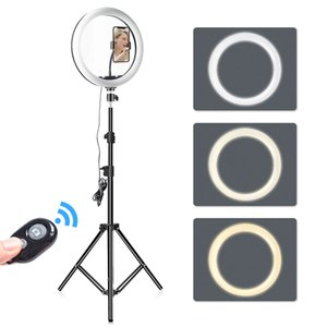 Ring Light 12 Inch 30Cm Round Light with 160Cm 3 Phone Holders Stand Studio Light Kit Ring Lampe Tripod for Vlog Streaming