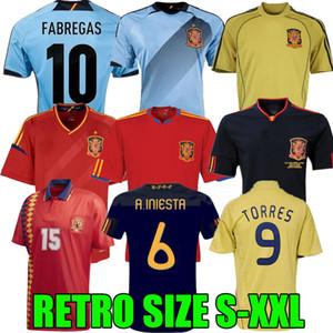 Final 1994 1996 1996 2008 2010 2012 Espagne Jersey de football rétro Fabregas Xavi Luis Ensrique Xavi Alonso Iniesta Pique Torres Camiseta de Fútbol