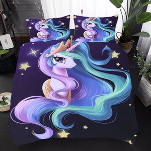 2020 New 3D Unicorn Digital Printing Duvet Cover Sets Bedding Set Pillowcase Bedroom Decor US UK AU Size Z1126