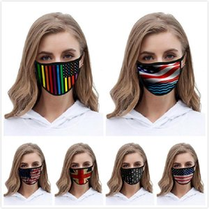 US STOCK American Flag Face Masks Trump American Election Print Supplies Dustproof Mask Universal For Adult Children Designer Masks Boom