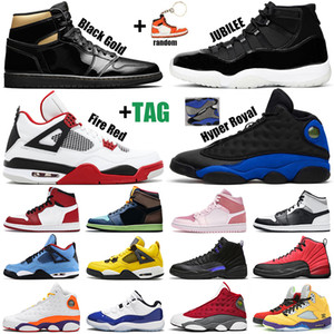 retro 야외 농구화 1s Tie Dye 11s Concord 12s Hyper Royal 13s 검은 고양이 4s What the 5s womens mens trainers Sports Sneakers