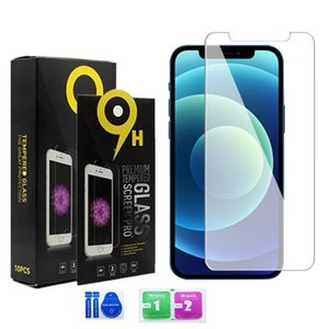 Screen Protector for iPhone 12 11 Pro Max XS Max XR Tempered Glass for iPhone 7 8 Plus LG stylo 6 Protector Film 0.33mm with Paper Box