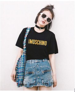 2020 new Summer design brands t shirt print black WHITE T-Shirt Women Tops T-shirt Cotton Short Sleeve Tshirt Womens Yls Tops Tees