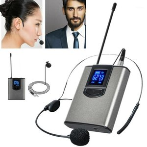 Pohiks Wireless Lavalier Lapel Headset Microphone Receiver Transmitter System Professional Wireless Recording Microphone1