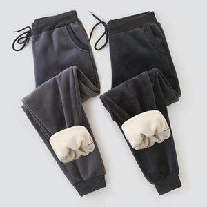 Autumn Winter Velvet Women Pants Warm Fleece Sweatpants High Waist Soft Trousers Vintage Harem Pant Joggers Sport Track Pant