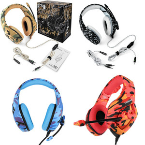 2020 New ONIKUMA K1B PS4 Gaming Headset with Mic Camouflage Noise-cancelling Headphones for PC Cell Phone Xbox One Laptop Computer Earphone