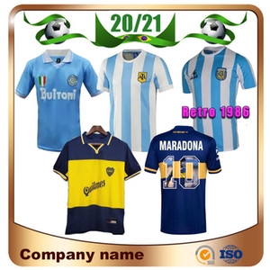Maradona Retro Argentinien 1986 1987 1988 1999 Napoli Fussball Jerseys Boca 1995 87 88 89 91 93 MAILLOT DE FOOTHER MARADONA FUSSBALL SHIRTS