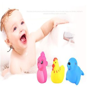 Bathroom Baby Clockwork Swimming Classic Children Play Water Cute Cartoon Animal Yellow Duck Beach Bath Tub Kid Toy