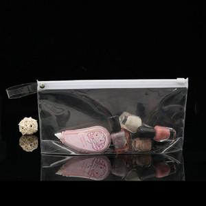 Heißer Verkauf EVA Transparent Kunststoff Reißverschluss Tasche Student Briefpapier Aufbewahrungsstift Tasche Kosmetik Tragbare Aufbewahrungstaschen