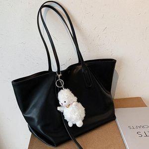 Shoulder Waterproof Totes Handbag PU Bag Women Capacity Chic Texture Portable Large Ladies Classic Shopping Jajad