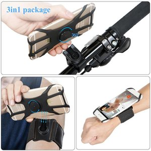 3 in1 Removable Silicone Bike Phone Holder On Hand Running Sport Armbands For Wrist Arm Band Bicycle Mount