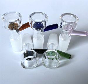 Wholesale Tazón de vidrio de 10 mm 14 mm 18 mm Junta masculina para tubos de vidrio y bongs de agua con flores de copo de nieve Filtro de copo de nieve Tazones de vidrio para fumar tazones de fumar