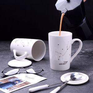 Coupe de café en céramique résistant à haute température Design Coupe Starry Sky Cup peut être personnalisé Logo Casse à café Emballage de cadeau exquis