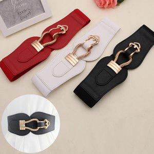 Elastico in vita Moda Ampia cinture di Donne per Sweater Dress Pin Buckle cinghie di cuoio ragazze Cummerbunds elastico Belt