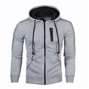 New Brand Men's Hoodies Fashion Men's Jackets Slim Sweat Shirt Coat Men's Hip-hop Zipper Hoodies Sportswear Track Suit Clothing