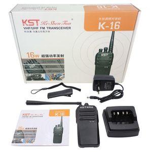 16 Вт Высокая мощность K16 Двухстороннее Радио 10 км Длинноамериканский Профессиональный FM Портативный трансивер с высокой емкостью 4000 мАч1