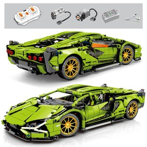1254Pcs Technic Super Racing Sports Vehicle Remote Control Building Blocks City Speed Racer RC non-RC Bricks Children Toys Gifts Z1128