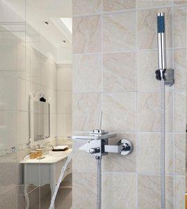 Competitive Price Chrome With Handshower Single Faucet Handles L92255 Chrome Bathtub Basin Mixers Tap Faucet