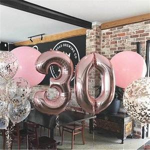 """40"""" Giant Foil Numbers Balloon 40 inch Big 0-9 Numbers Float Balloons Gold Red Gradient Birthday Party Wedding New Year Decor E122301"""