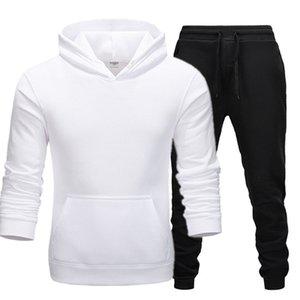 Autunno Inverno Hot Brand Due pezzi Set Set Felpe spessore Tuta Uomini / Donne Sportswear Palestre per allenamento fitness Felpe con cappuccio Felpe