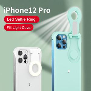 Selfie Light Phone Case LED Fill Light Ring Flash Phone Case Schutzabdeckung für iPhone 12 12 Pro max