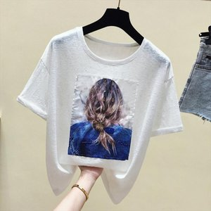 Harajuku White T shirt Women Clothes Casual Female T shirt Summer Tops Vintage Tee Shirt Femme Short Sleeve New 2019