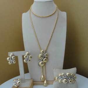 Yuminglai Classic Design African Fashion Jewelry Sets Dubai Costume Jewelry FHK8743 201123