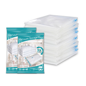 Large Stock Pepa Compressed Vacuum Storage Bags 80 Micron Vacuum Bag With Hand Pump Storage Home Organizer Transparent Border Clothes Organi