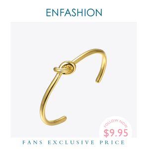Enfashion Großhandel Knoten Manschette Armbänder Gold Farbe Manchette Armband Armband Für Frauen Armband Modeschmuck Pulseiras B4286 Y1126