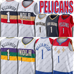 Zion 1 New Williamson Jersey OrleansPelikanFormalar 2021 Sezon Lonzo Basketbol Ball Formalar