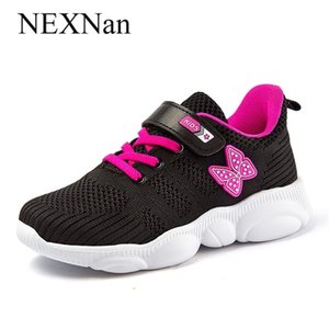 Nexnan Sport Kids Sneakers para Crianças Sapatos Casuais Meninos Sneakers Sapatos Meninas Respirável Malha Running Calçado Treinadores Escola 201224