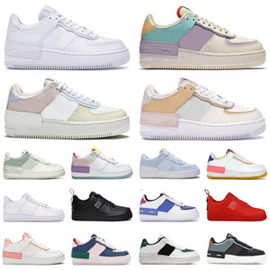 force 1 af1 one shoes tênis de corrida masculinos femininos tênis plataforma sombra triplo branco Glacier Pale Ivory Spruce Aura Bleached Black masculinos fashion outdoor tênis