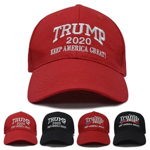 Trump 2020 Keep America Great Baseball Cap Two Styles Embroidery Cotton Adjustable Breathable Hat Outdoor Trump Unisex Caps DH1034