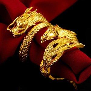 Anillos de racimo Dragón Phoenix Parejas Boda Joyería ajustable al por mayor