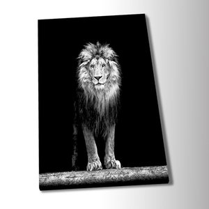 1pcs HD Art Poster Lion Pictures Black and White Poster Wall Picture Canvas Wall Art Painting for Bedroom Wall Décor