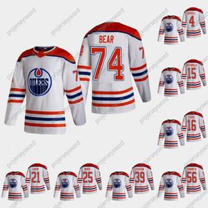 74 Ethan Bear 2021 Reverse Retro Jersey Edmonton Oilers Kris Russell Josh Archibald Jujhar Khaira Dominik Kahun Darnell Nurse Caleb Jones