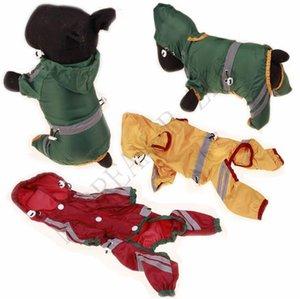 Con abiti da cane impermeabile vestiti impermeabile giacca per animali domestici protettivi striscia riflettente cat cucciolo cappuccio cappuccio cappotto per pioggia abbigliamento piccolo cani